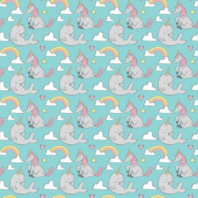 Narwhal and Unicorn Pattern