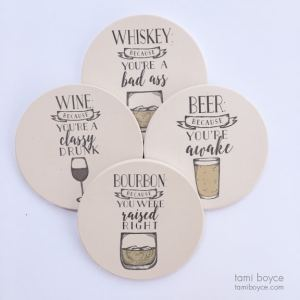 Coaster Set, Cocktails and Dreams Series
