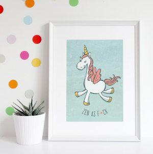Unicorn, Zen as F*ck you do you stylized