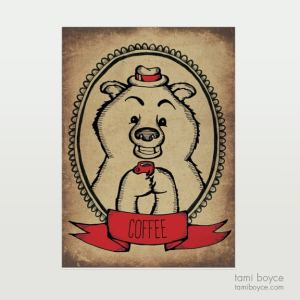 Bear with Coffee
