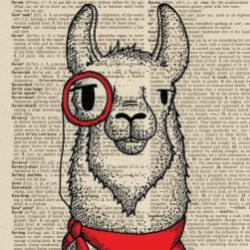 Llama_monocle