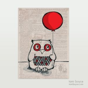 Owl with Balloon