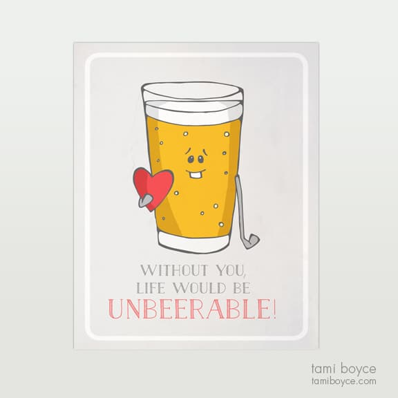 Unbeerable Food Pun Series Tami Boyce