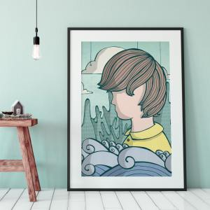 boy with waves styled