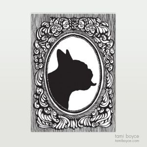 French Bulldog Silhouette, Cameo Series