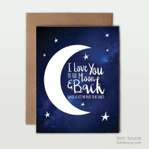 Moon and Back, Greeting Card