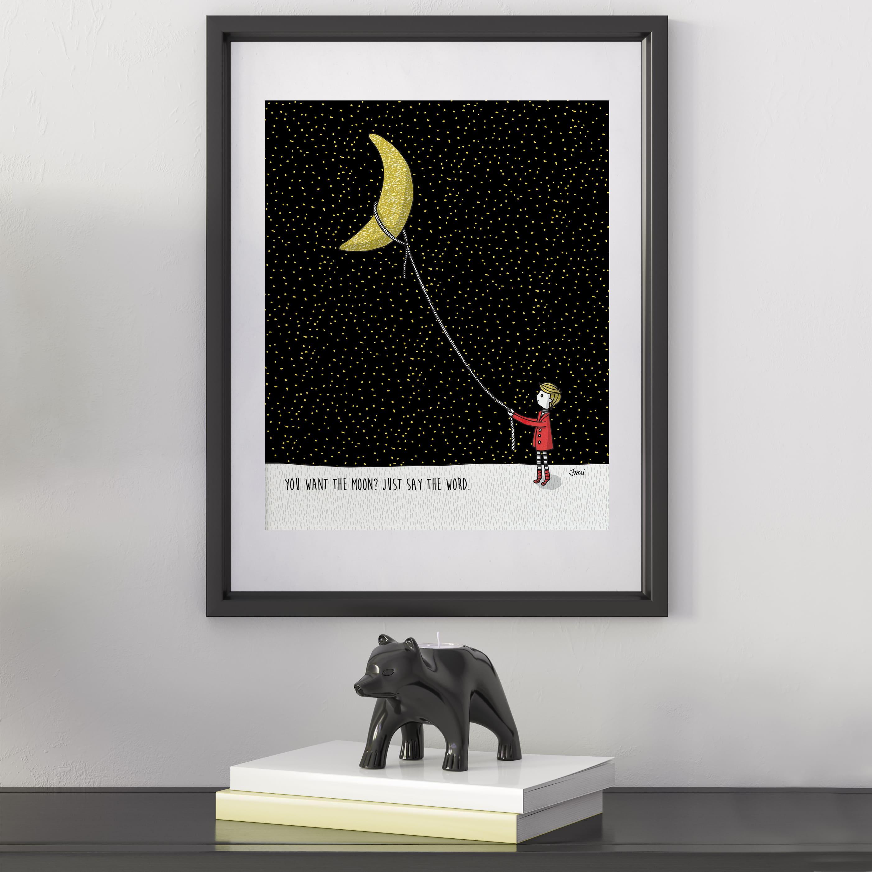 lasso the moon positivity snark boy stylized
