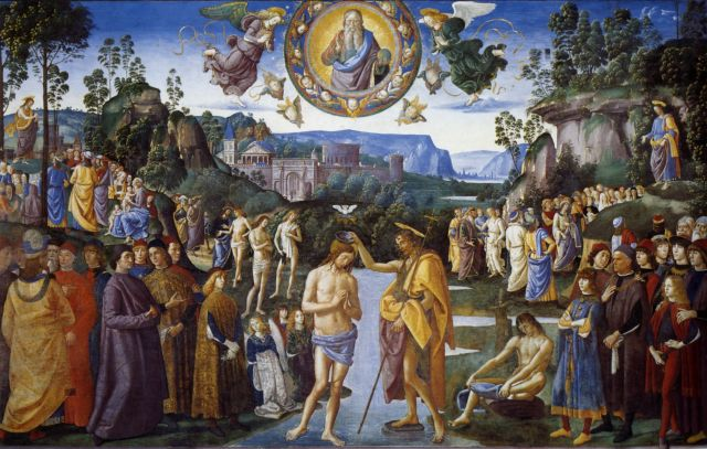 Pietro Perugino, The Baptism of Christ, Sistine Chapel, Rome, Italy