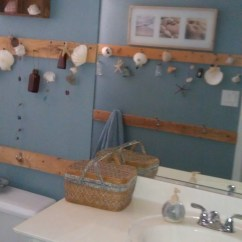 Reupholster Chair Cost Bistro Table With Chairs Shabby Chic Seashore Themed Bathroom | Not Too