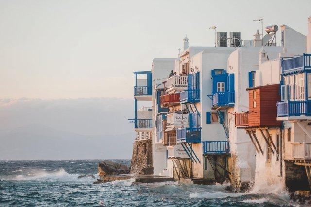 View of Little Venice from Galleraki's in Mykonos Town by Tami Keehn