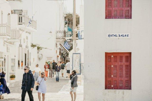 Mykonos Town, Greece by Tami Keehn