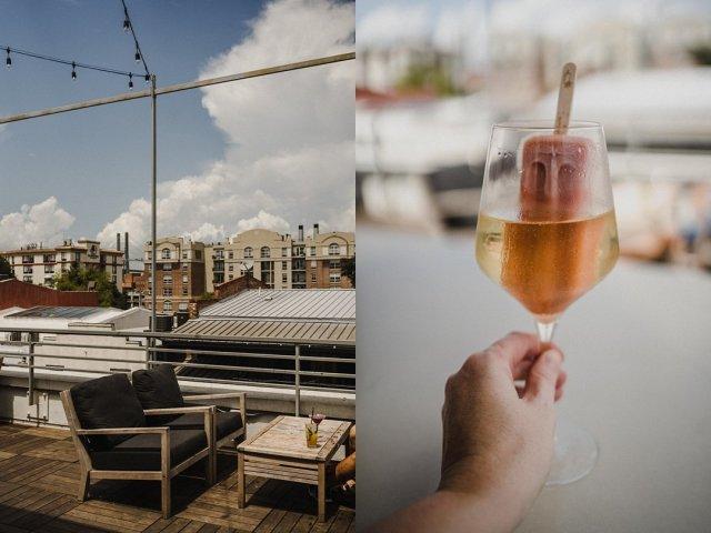 A champagne pop and views at the Grove Savannah.