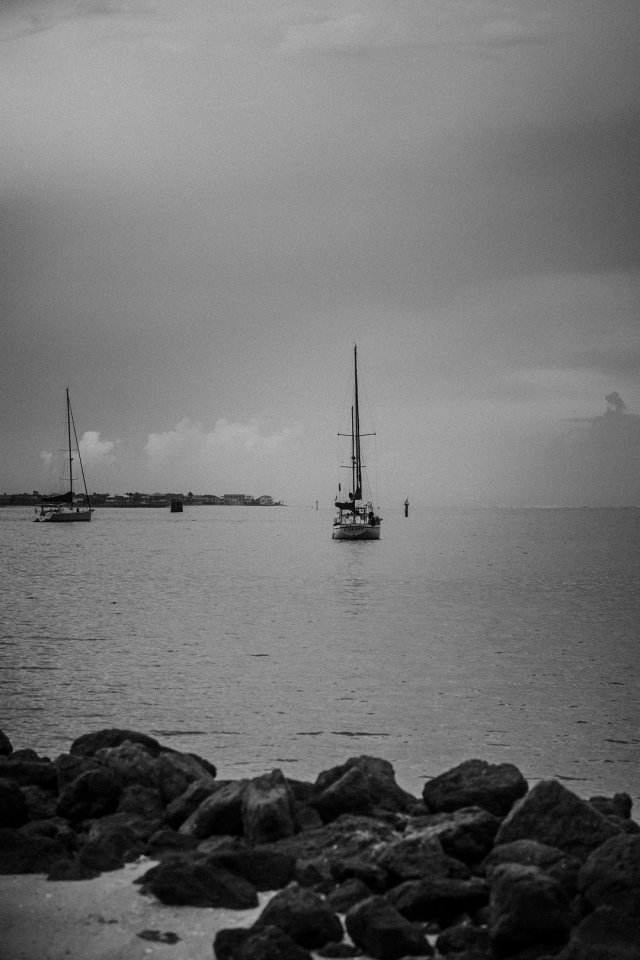 Boat in the harbor in St Augustine, FL