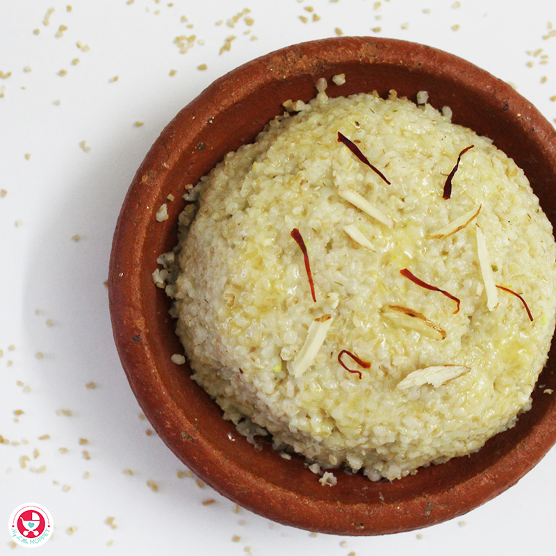 Wheat Apple Halwa for Babies inTamil