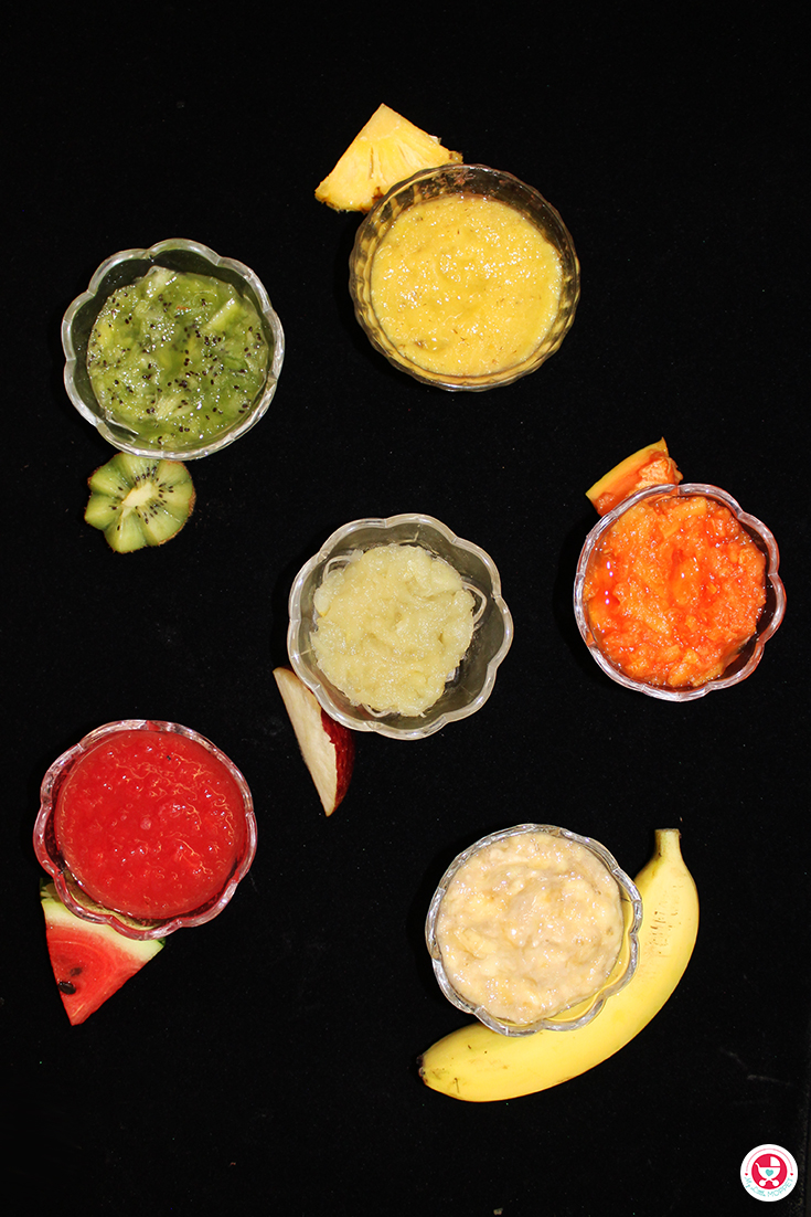 Fruit puree for babies in tamil