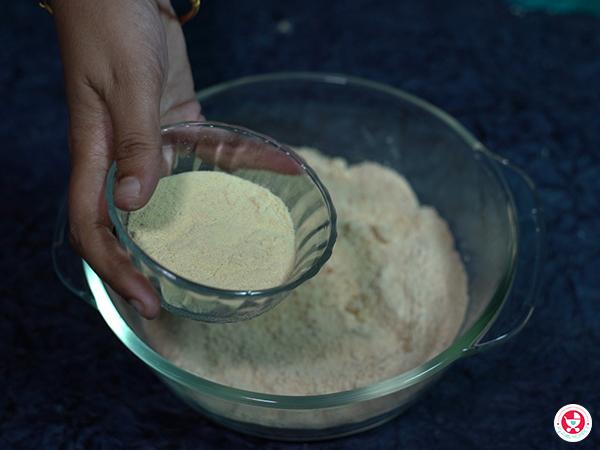 add the 1/4 cup of soya milk powder