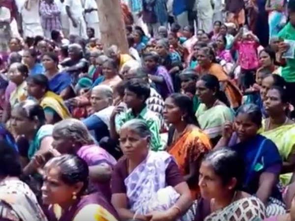 People protesting continuously on 116 on kathiramangalam