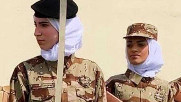 The Saudi government now allows women to join in armed forces