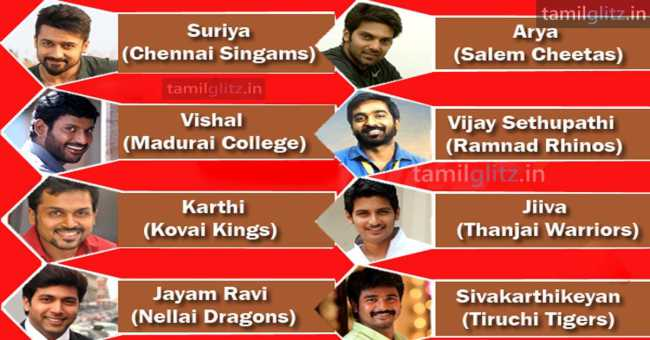 Tamil Actors Star Cricket – Complete Players List