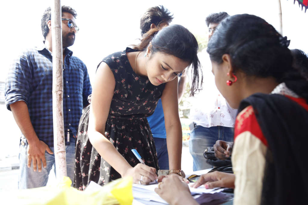 Celebrities At Actress Varalakshmi Sarathkumar's #SaveShakti Campaign Stills