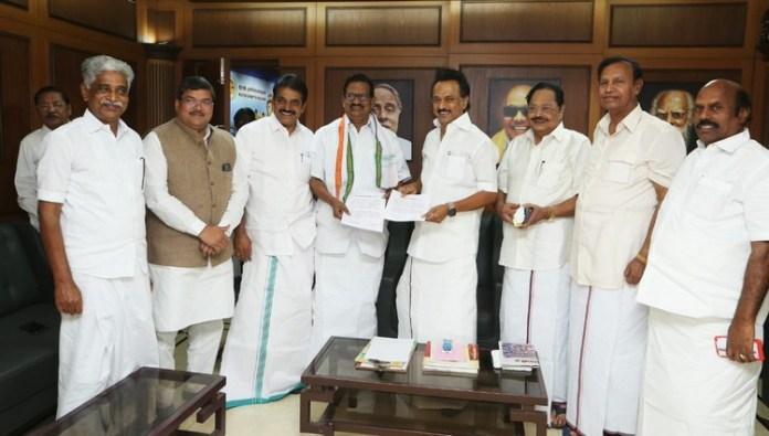 Congress got 10 seats in dmk alliance