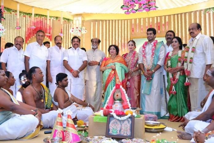Soundarya rajinikanth wedding in chennai - tamilnaduflashnewscom