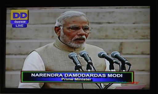 Narendra Modi became The country's 15  prime minister  (1)