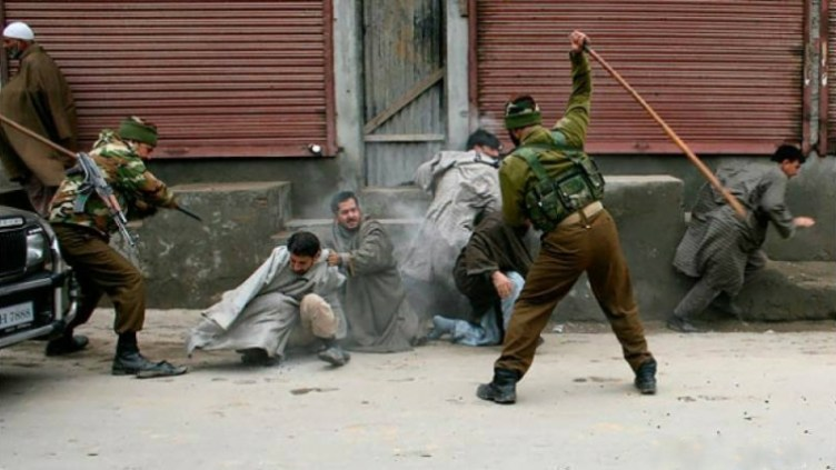 "Nonviolent"" India's violent acts in Kashmir"