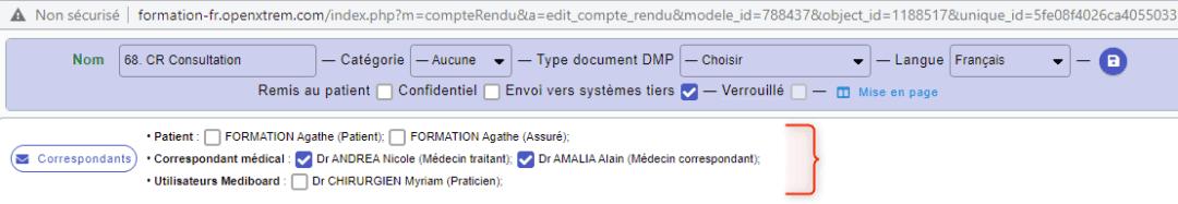 Corp de texte document