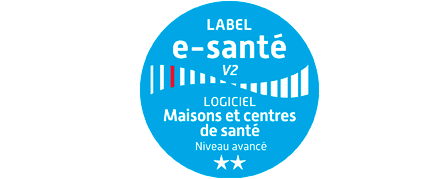 Logo label e-santé V2