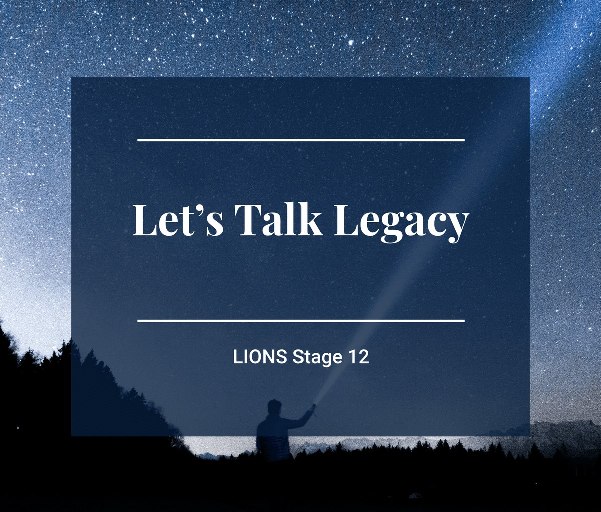 Lions Program Stage 12 Image