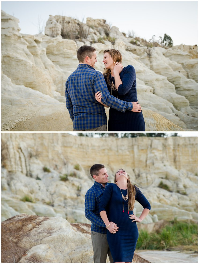 Mine dumps couple photo shoot