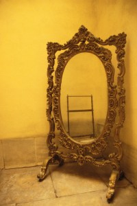 Orate Mirror in the Corner of a Room