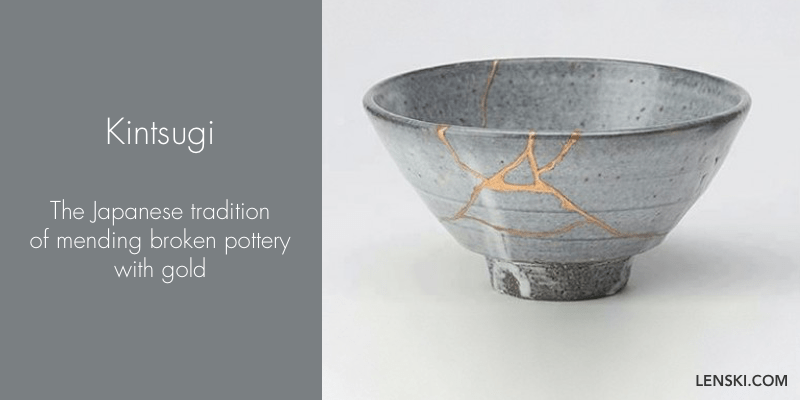 Kintsugi - The Japanese tradition of mending broken pottery with gold