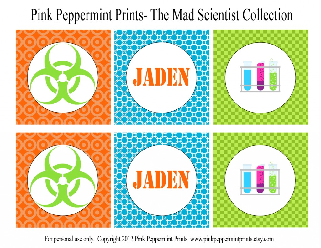 Printable Parties New Mad Science Printable Party Collection In The Shop Today Tammy