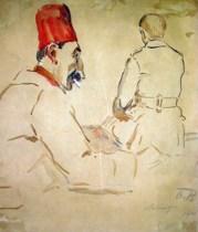 Beta_Vukanovic_-_Francuski_vojnici,_1915._Vojni_muzej