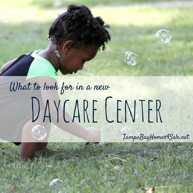What to look for in a new daycare center in Tampa Bay - moving to tampa bay
