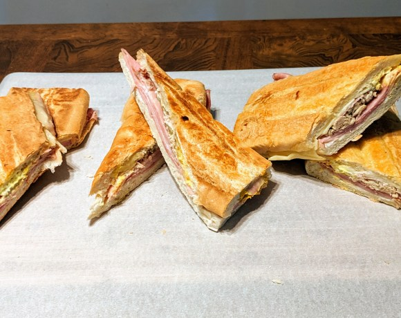 Cuban sandwiches from La Teresita, Arco Iris and West Tampa Sandwich Shop.