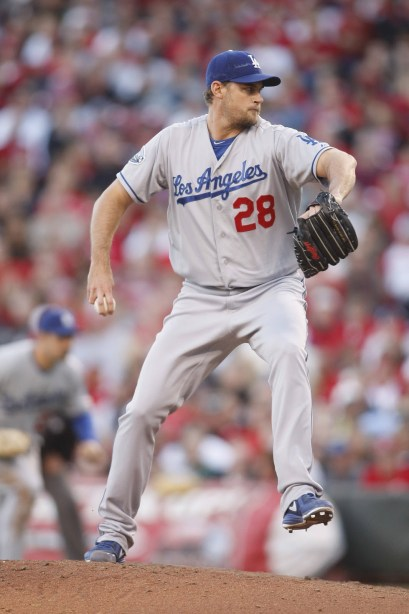 Jamey Wright with the Dodgers in 2012