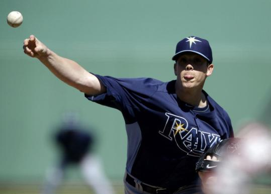 Rays starter Jeremy Hellickson worked seven innings against the Yankees on Sunday, which the right-hander believes is a career high for him in Grapefruit League action. (Photo courtesy of the Associated Press)