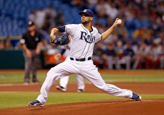 David Price #14 of the Tampa Bay Rays pitches against the Boston Red Sox during the game at Tropicana Field on May 15, 2013 in St. Petersburg, Florida. (Photo by J. Meric/Getty Images)