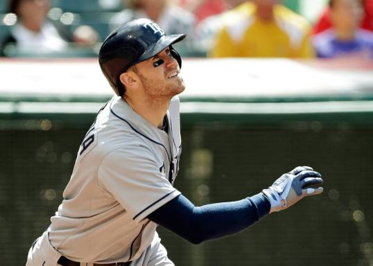 Evan Longoria basking in the glow of his 10th homer of the year (Photo courtesy of the Tampa Bay Rays)