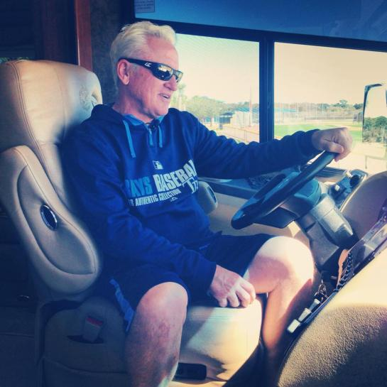 A man and his RV. (Photo courtesy of the Tampa Bay Rays)