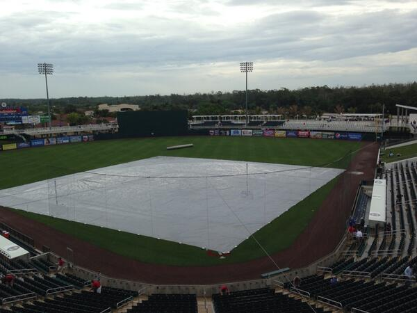 The scene in Ft. Myers on a rainy Monday. (Photo courtesy of Marc Topkin)