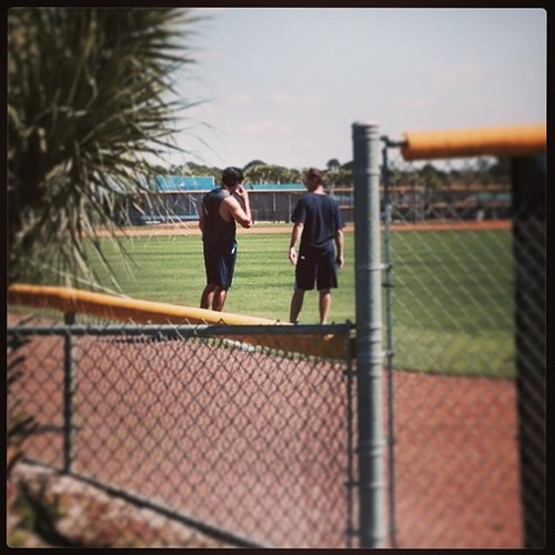 Cesar Ramos on the practice fields of Charlotte Sports Park.