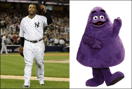I love when the race face off against Grimmace and the Yankees.