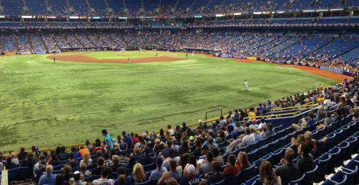 The scene from the Porch, just prior to Wil Myers' fourth inning RBI single to center.