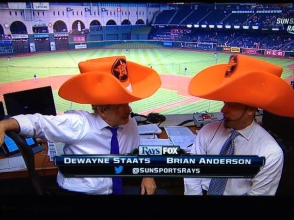 Rays broadcaster Brian Anderson (right) said he would be shocked if David Price was traded this year.