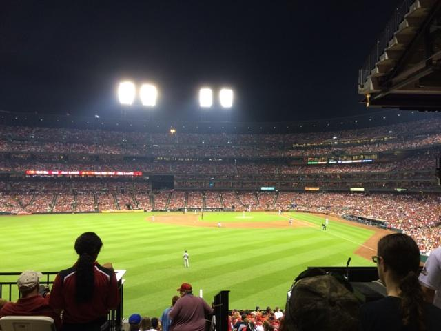 Busch Stadium, as seen through the lense of Evan Longoria. (Photo courtesy of Evan Longoria)