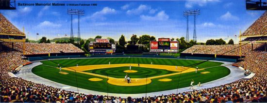 Memorial Stadium in Baltimore, former home of the Orioles from 1954-1991.